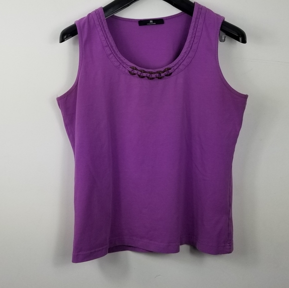 M collection purple tank top
